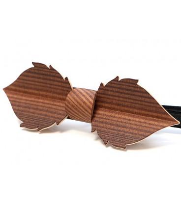 Nœud papillon bois, Feuille en Mélèze fumé - MELISSAMBRE