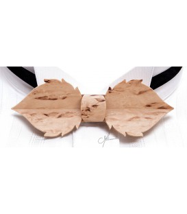 Bow tie in wood, Leaf in Finland mottled Birch - MELISSAMBRE
