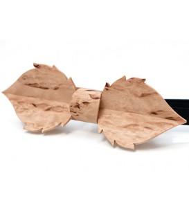 Noeud papillon bois, Feuille en Bouleau madré de Finlande