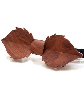 Bow tie in wood, Leaf in Vavona burl