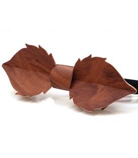 Noeud papillon bois, Feuille en loupe de Vavona