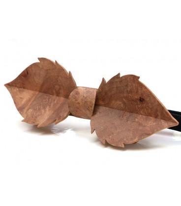 Noeud papillon bois, Feuille en loupe de Madrona - MELISSAMBRE