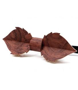 Noeud papillon en bois, Feuille en Bubinga pommelé