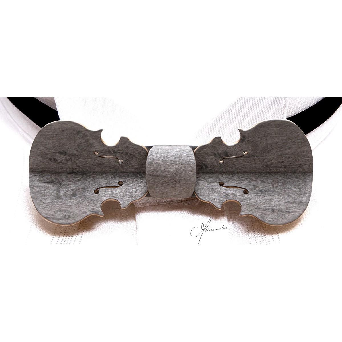 vente en ligne Chaussures de skate profiter de prix pas cher Nœud papillon bois, Violon gris perlé