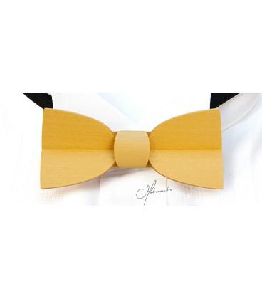 Nœud papillon en bois, Mellissimo jaune - MELISSAMBRE