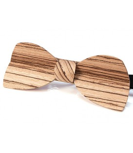 Bow tie in wood, Half-Moon in Zebrano