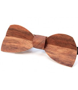 Bow tie in wood, Half-moon in Etimoe - MELISSAMBRE
