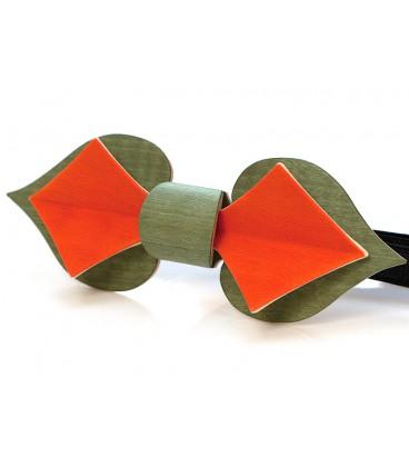 Nœud papillon en bois, Carte capucine - MELISSAMBRE