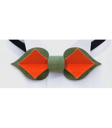 Nœeud papillon en bois, Carte capucine