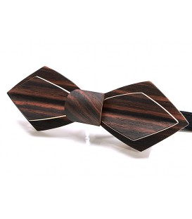 Bow tie in wood, Nib in Macassar Ebony