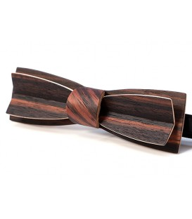 Bow tie in Macassar Ebony, Stretto in Macassar Ebony - MELISSAMBRE
