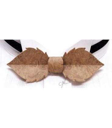 Noeud papillon bois, Feuille en loupe de Chêne - MELISSAMBRE