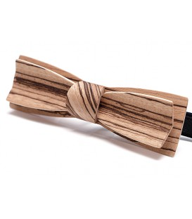 Bow tie in wood, Stretto in Zebrano - MELISSAMBRE