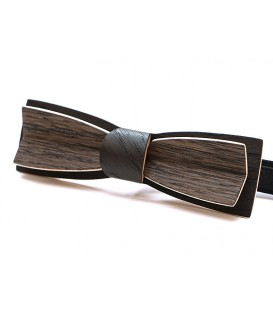 Bow tie in wood, Stretto in black & grey Oak