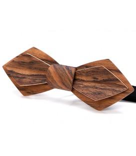 Noeud papillon en bois, Plume en Amazakoué - MELISSAMBRE