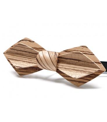 Bow tie in wood, Nib in Zebrano - MELISSAMBRE