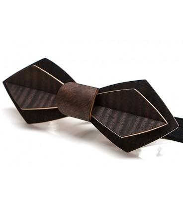 Bow tie in wood, Nib in smoked wavy Eucalyptus - MELISSAMBRE