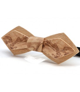 Bow tie in wood, Nib in Ash-Olive tree burl