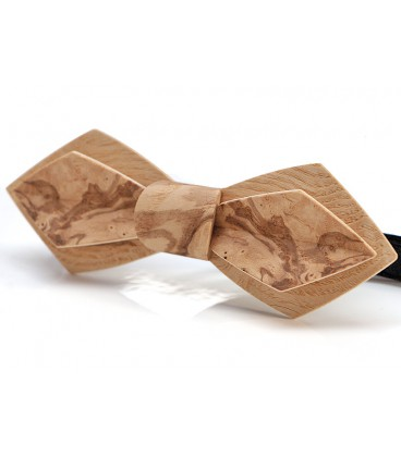 Bow tie in wood, Nib in Ash-Olive tree burl - MELISSAMBRE