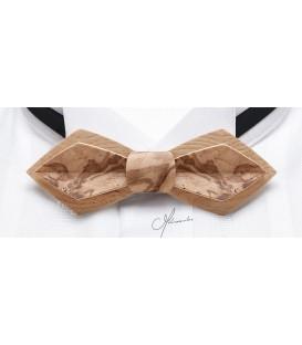 Nœud papillon en bois, Plume en loupe de Frêne-Olivier - MELISSAMBRE