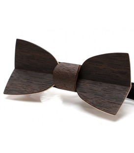 Bow tie in wood, Mellissimo in smoked Oak