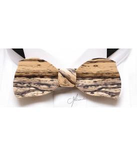 Nœud papillon bois, Butterfly en Ebène blanc - MELISSAMBRE