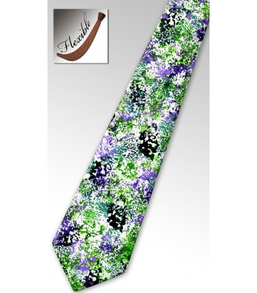 Cravate bois teinté corail