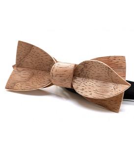 Noeud papillon bois, Asymétric en Bubinga argenté