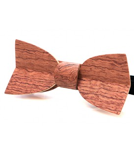 Bow tie in wood, Mellissimo in wavy Bubinga