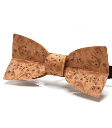 Bow tie in wood, Mellissimo in Yew tree burl - MELISSAMBRE
