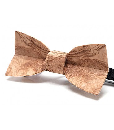 Bow tie in wood, Mellissimo in Ash-Olive tree burl - MELISSAMBRE