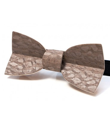 Bow tie in wood, Mellissimo in hazelnut tinted Louro-Faïa - MELISSAMBRE