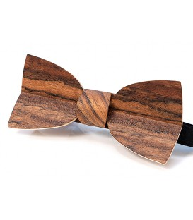 Bow tie in wood, Mellissimo in Mozambique wood