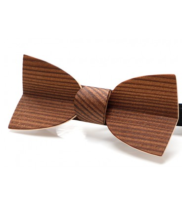 Bow tie in wood, Mellissimo in smoked Larch - MELISSAMBRE