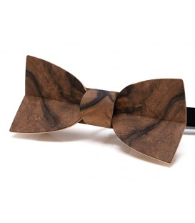 Bow tie in wood, Mellissimo in veined Walnut tree