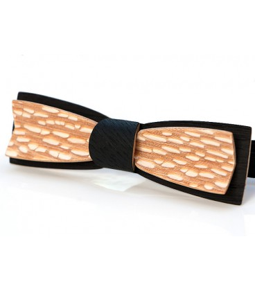 Bow tie in wood, Stretto black Oak & Louro-faïa - MELISSAMBRE
