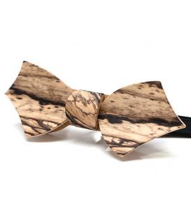 Nœud papillon bois, Eole en Ebène blanc - MELISSAMBRE®