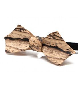 Bow tie in wood, Eole in white Ebony - MELISSAMBRE®