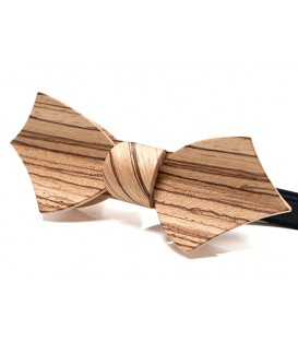 Bow tie in wood, Eole in Zebrano - MELISSAMBRE®