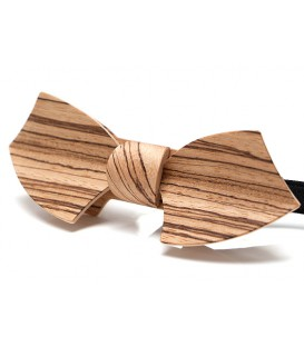 Bow tie in wood, Drakkar in Zebrano