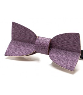 Bow tie in wood, Mellissimo in lilac Koto