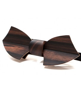 Bow tie in wood, Drakkar in Maccassar Ebony - MELISSAMBRE®