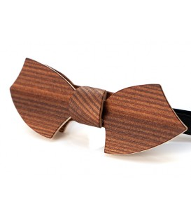 Bow tie in wood, Drakkar in smoked Larch