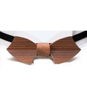 Bow tie in wood, Drakkar in smoked Larch - MELISSAMBRE®