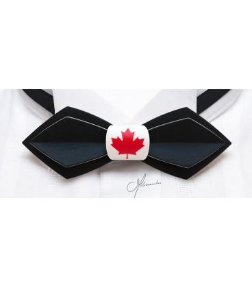 Nœud papillon en bois, Plume Canada - MELISSAMBRE