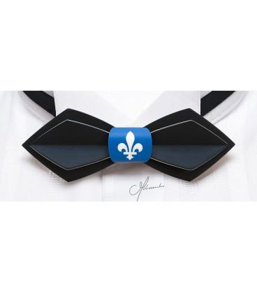 Nœud papillon en bois, Plume Québec - MELISSAMBRE