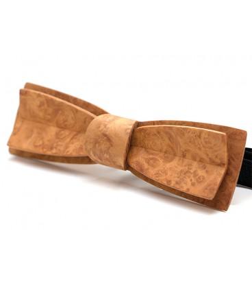 Stretto en Amboine or, nœud papillon en bois - MELISSAMBRE