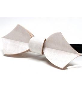 Nœud papillon en bois, Eole blanc, MELISSAMBRE