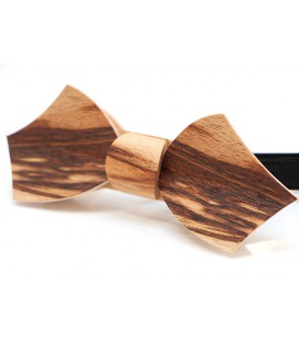 Bow tie in wood, Eole in dogwood, MELISSAMBRE
