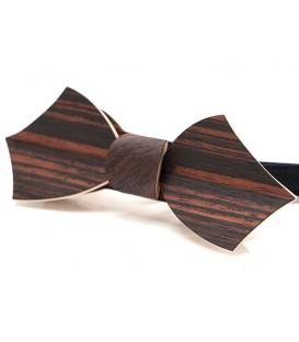 Bow tie in wood, Eole in Macassar Ebony, MELISSAMBRE